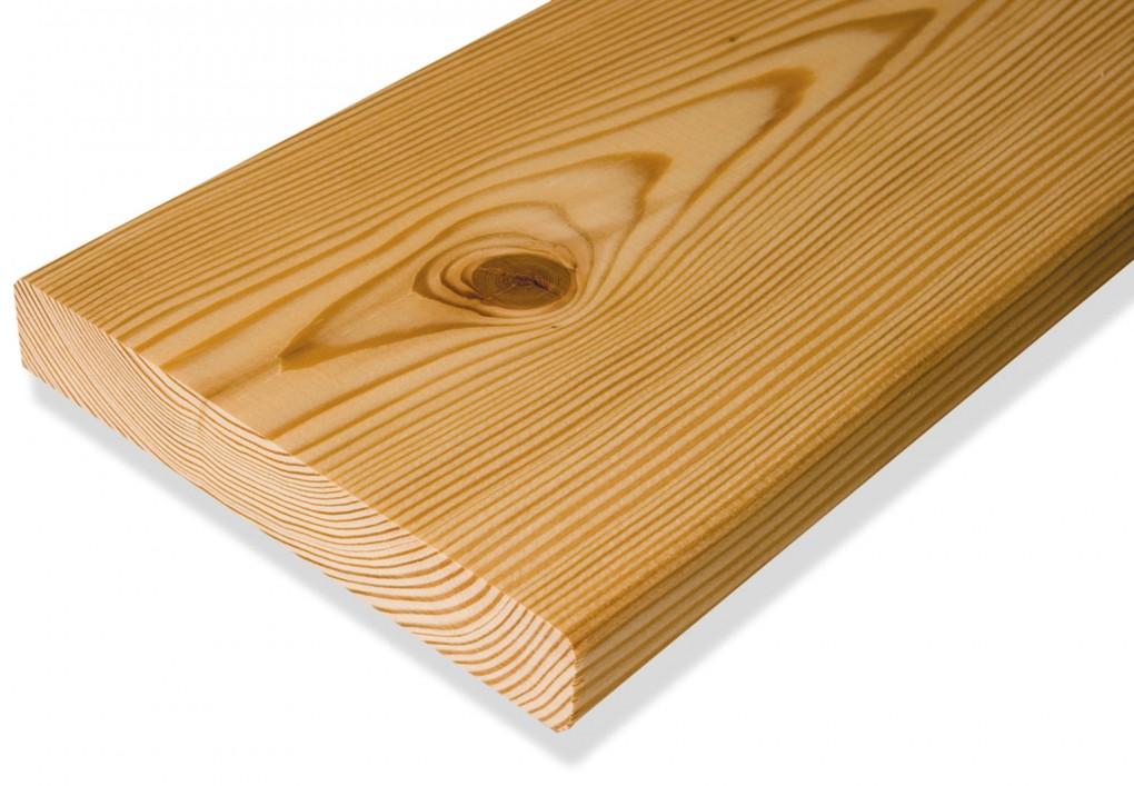 Fano Terrassendiele Lärche Sibirisch unbehandelt glatt 34 mm