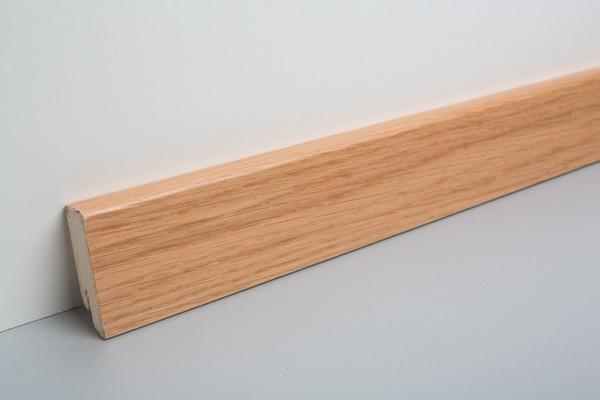 Parkettleiste furniert MHF 50 Eiche lackiert 2500 mm