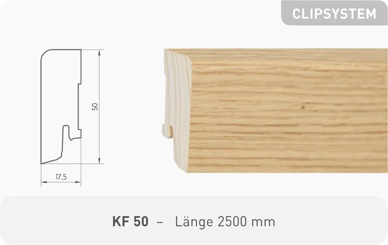 Parkettleiste KF 50 Eiche ProActive+ 2,50 m