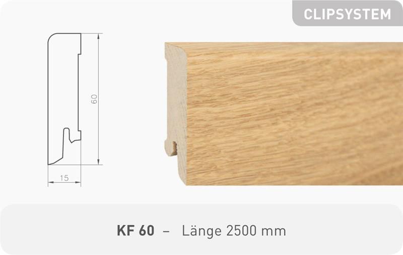 Parkettleiste KF 60 Eiche Kaschmir ProActive+ 2,50 m
