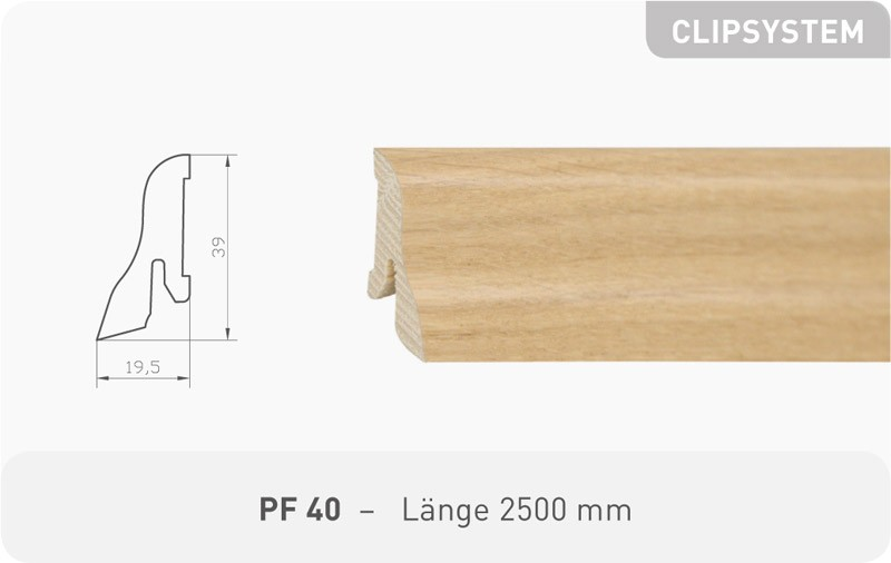 Parkettleiste PF 40 Eiche ProStrong 2,50 m