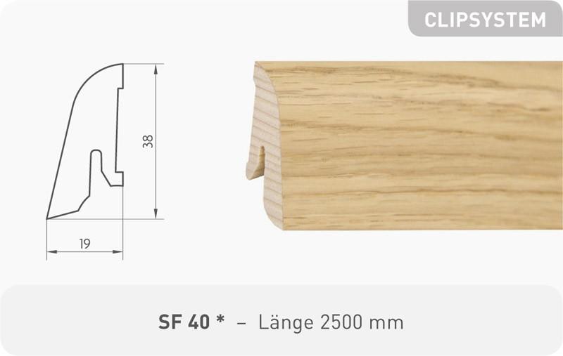Parkettleiste SF 40 Esche ProStrong 2,50 m