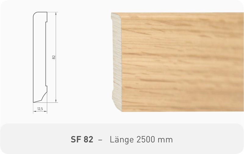 Parkettleiste SF 82 Fichte weiß ProActive+ 2,50 m