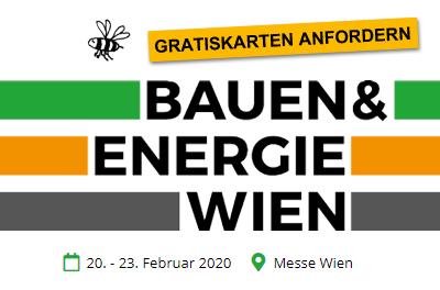 Besuchen Sie uns auf der Bauen & Energie Messe Wien 2020!