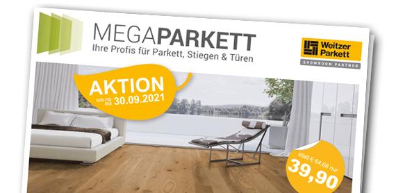 Weitzer Parkett Aktion Eiche Landhausdielen 2020